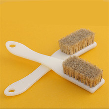 2 Pack Long Handle 6 Row Natural Boar Hair Detail Brush Clean Brush For Interiors Car Seats Leather Furniture(China (Mainland))