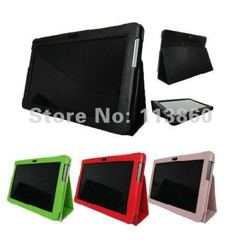 """For Samsung GALAXY Tab 2 P5100 P5110 P5113 10.1"""" Folio PU Flip Leather Stand Folding Case Cover Free Shipping"""