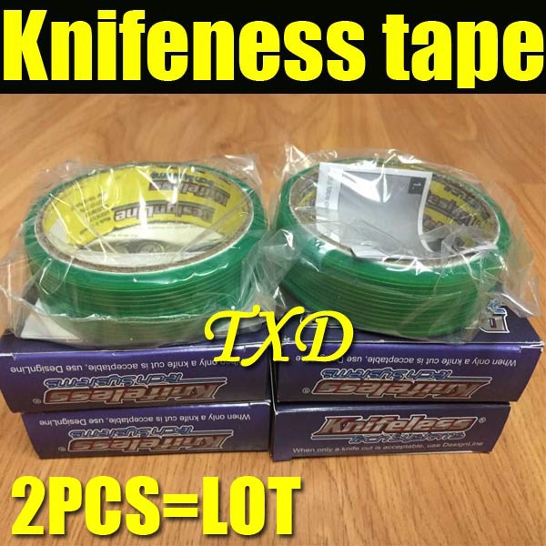 2PCS/LOT Free Shipping Knifeless Tape Car Wrap Tools Vehicle Body Wraps design line size by 3.5mmx50m per roll(China (Mainland))