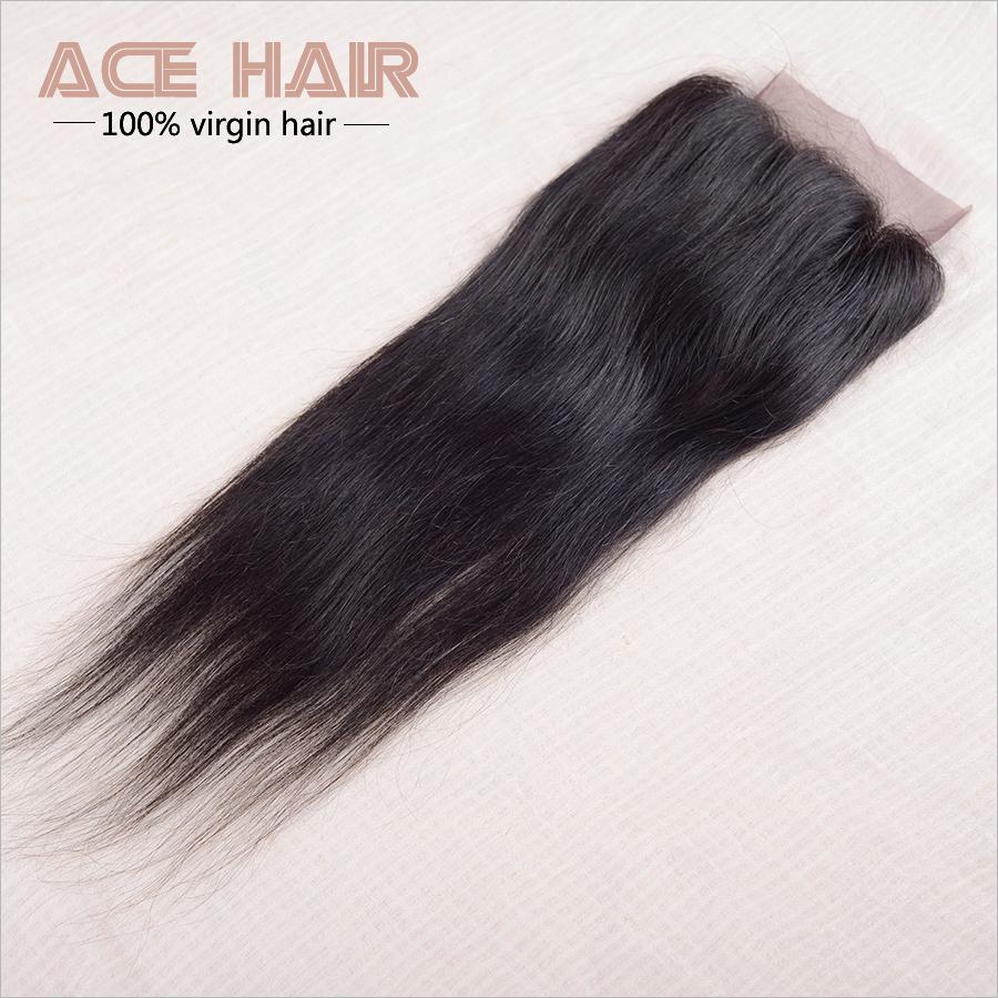 Grade 7a Straight  Malaysian Hair Closures 4X4  Lace Closure Bundles Malaysian Virgin Hair Malaysian Virgin Hair With Closure