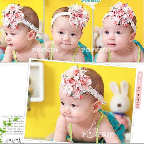 1PC Baby Girl Headband Hairband Headwear Hair Accessories Colorful Fashion Attractive Fascinator Chiffon Flowers Korean(China (Mainland))