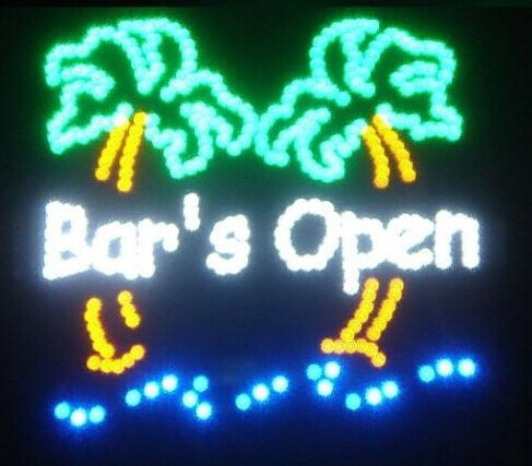 2016 Top Fasion Real Graphics Led BEER BAR Shop Open Neon Sign 19x19 Inch(China (Mainland))