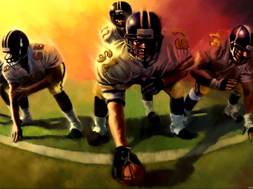 American Football Players Sport Art Huge canvas Poster TXHOME D7092(China (Mainland))