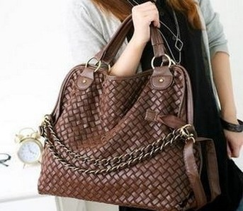 2016 Time-limited Hot Sale Bolsos Women Handbags High Quality Korean Weaving Grid Designers Shoulder Bags For Woman Pu Leather(China (Mainland))