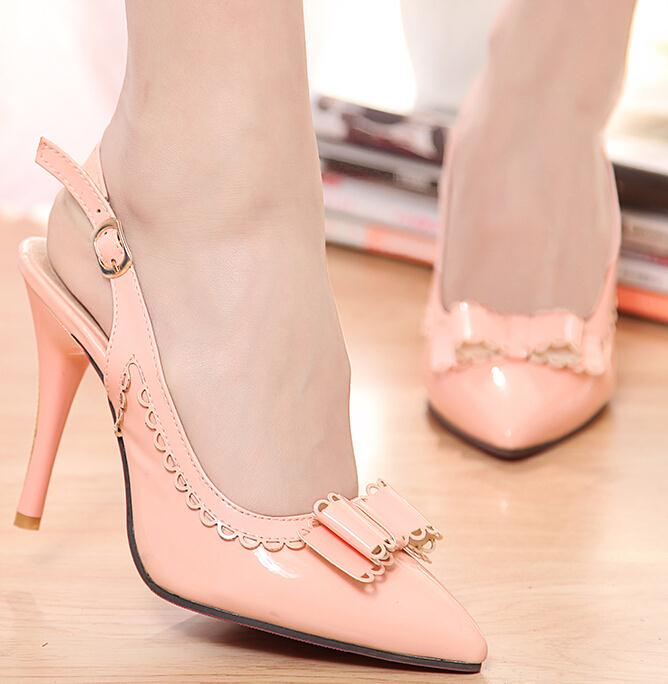 ENMAYER Sexy Lady Women Pumps 2015 Pointed Toe Party Wedding Dress Shoes High Heels Patent Man-made Uppers Less Platform Pumps<br><br>Aliexpress