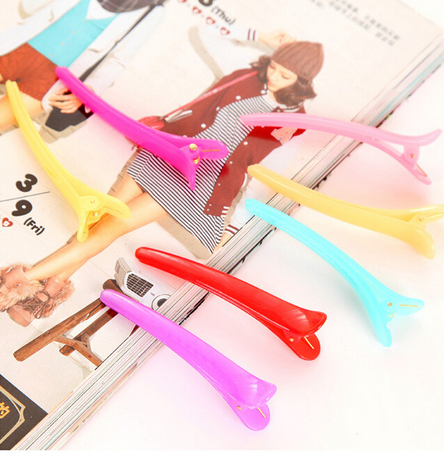 free shipping 10pcs mixed color Candy Color Girls' Alligator Hair Clips Plastic Style Hairpins Hair Accessories Crocodile Clip(China (Mainland))