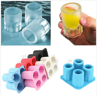 1 pcs Cup Shape Ice Mold Soft Silicone Frozen Ice Tube Mould Party&Bar Ice Cubes Tray Ice Maker for Coke Novelty Gifts B147(China (Mainland))