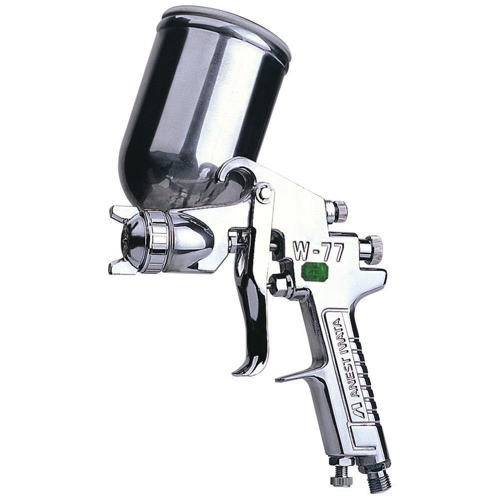 ANEST IWATA gravity (on pot) W-77 air gun Iwata paint spray gun 1.5mm ( W-77-11G)(China (Mainland))
