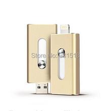 Newest Retractable 32GB 64GB OTG USB flash drive for iphone,  iflash drive / pen drive for iPhone & iPad   300pcs/lot(China (Mainland))
