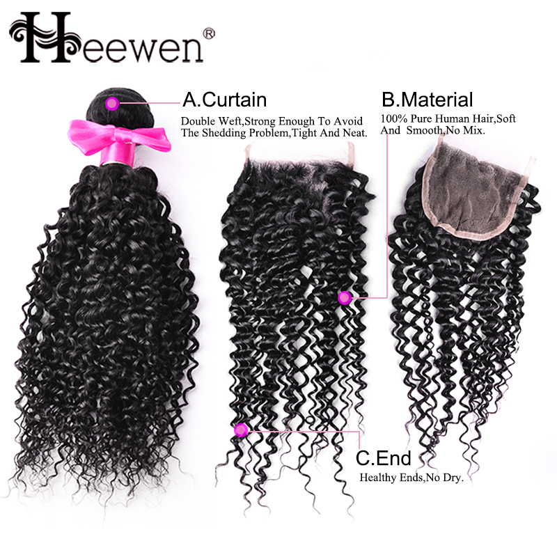 Best 7A Brazilian Virgin Hair Water Wave With Lace Closure 3 Bundles With Closure Brazilian Kinky Curly Virgin Hair With Closure<br><br>Aliexpress