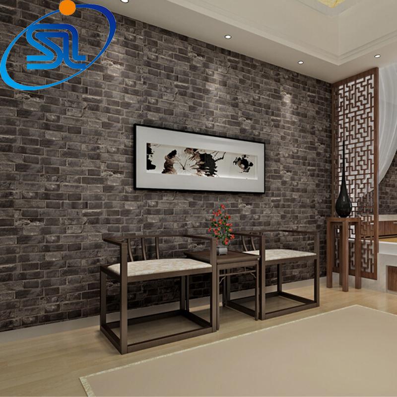 Brique papier peint en relief promotion achetez des brique for Brick wallpaper ideas for kitchen