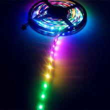 5M Hi-Q 48 LEDs 16 Pixels /M DC12V WS2801 RGB LED Strip Non-waterproof White PCB(China (Mainland))