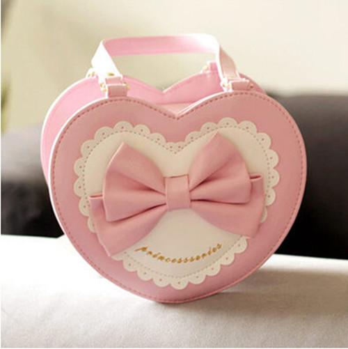 Retail Sweet Bow Tie Small Hand Bag Girls Messenger Bag for Kids 2014 Children Tote Bags Little Girls Handbags 3 - 10 Years Kids(China (Mainland))
