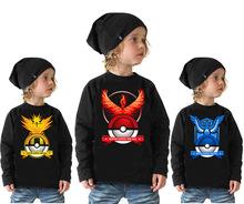 Free shipping Pokemon go team t shirts kids long sleeve t shirts boys baby pokemon go clothes