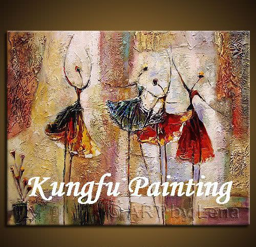 dab309 100% handmade unframed high quality modern abstract contemporary oil painting on canvas ballet dancer painting(China (Mainland))
