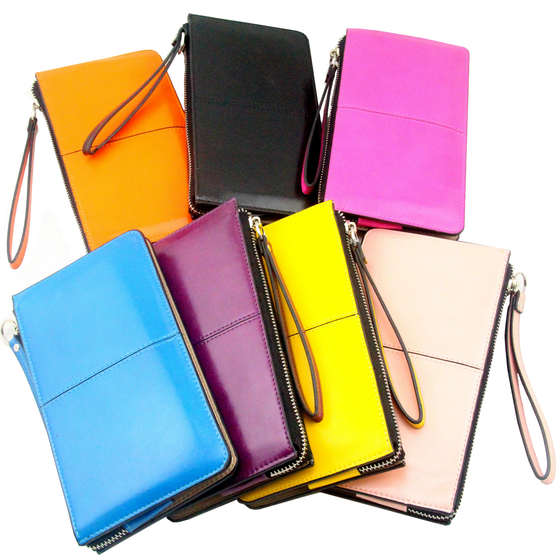 2015 The New French Prince Paris Head Layer Leather Long Wallet Purse High-grade Oil Hand Bag(China (Mainland))