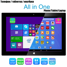 "tablet windows 10 Dual OS GPS Bluetooth USB HDMI Wifi 5.0MP Quad Core Android 4.4+ Windows Tablet Phone 11"" IPS(China (Mainland))"