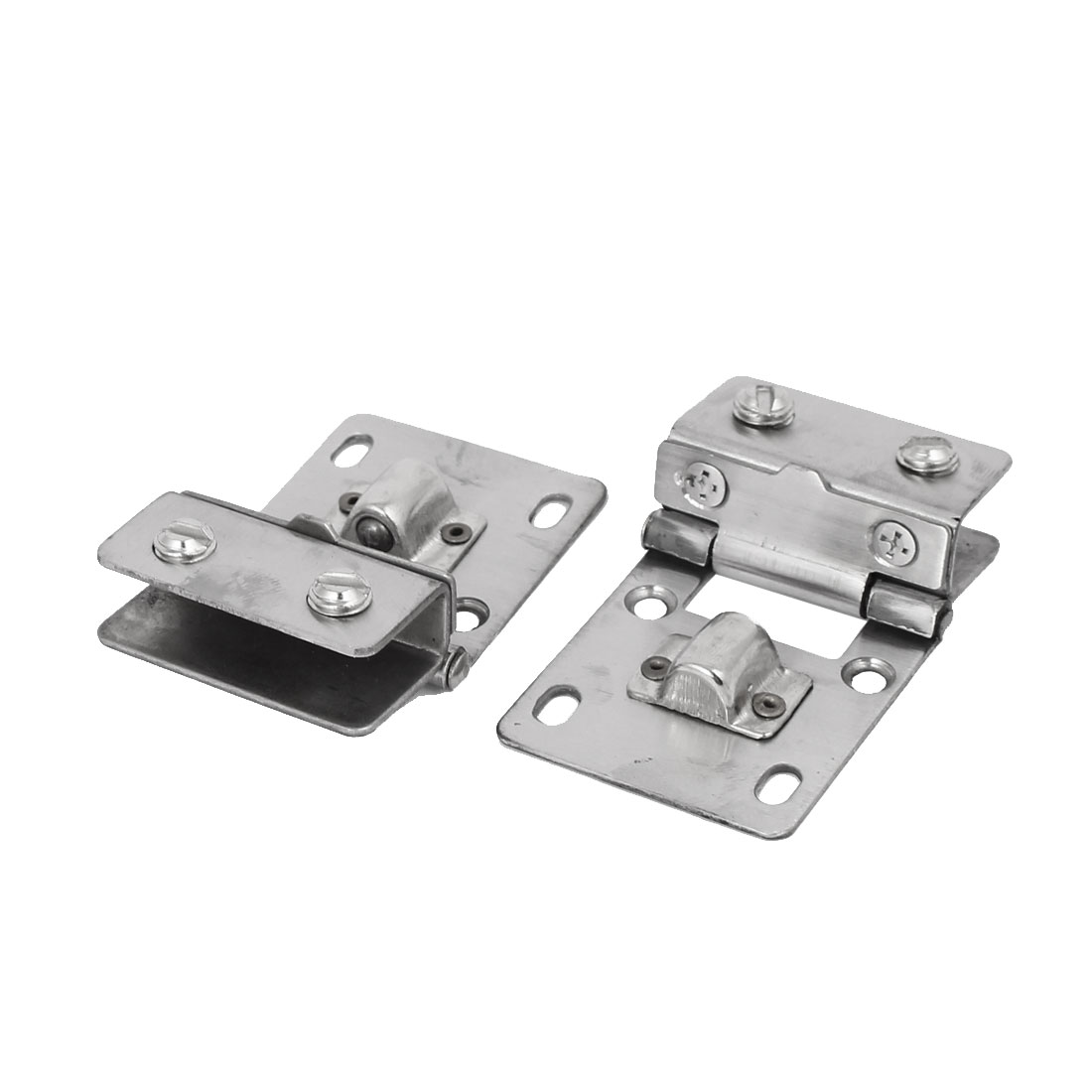 UXCELL 11Mm Thickness Glass Wall Mounted Fitting Clip Door Hinge Catch Silver Tone 2Pcs(China (Mainland))