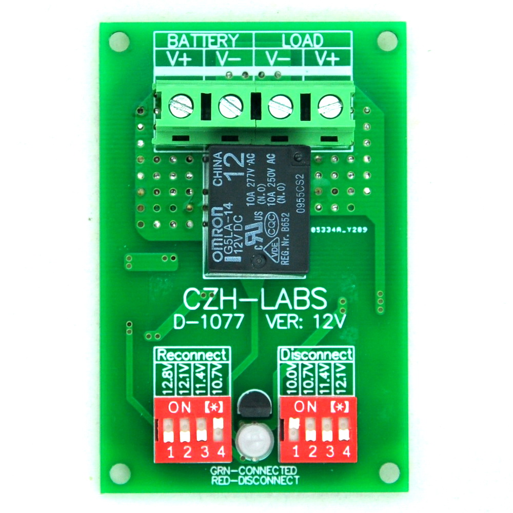 Low Voltage Disconnect Module LVD, 12V 10A, Protect/Prolong Battery Life.<br><br>Aliexpress