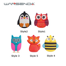 New style Cute bee penguin Fox Usb 2.0 Usb Flash Drive 4GB 8GB flash card16GB 32GB 64GB fox Pendrives real capacity Memory stick(China (Mainland))