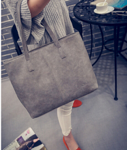2016  spring summer fashion formal women's  vintage handbag brief one shoulder big bags gray /black large capacity bag