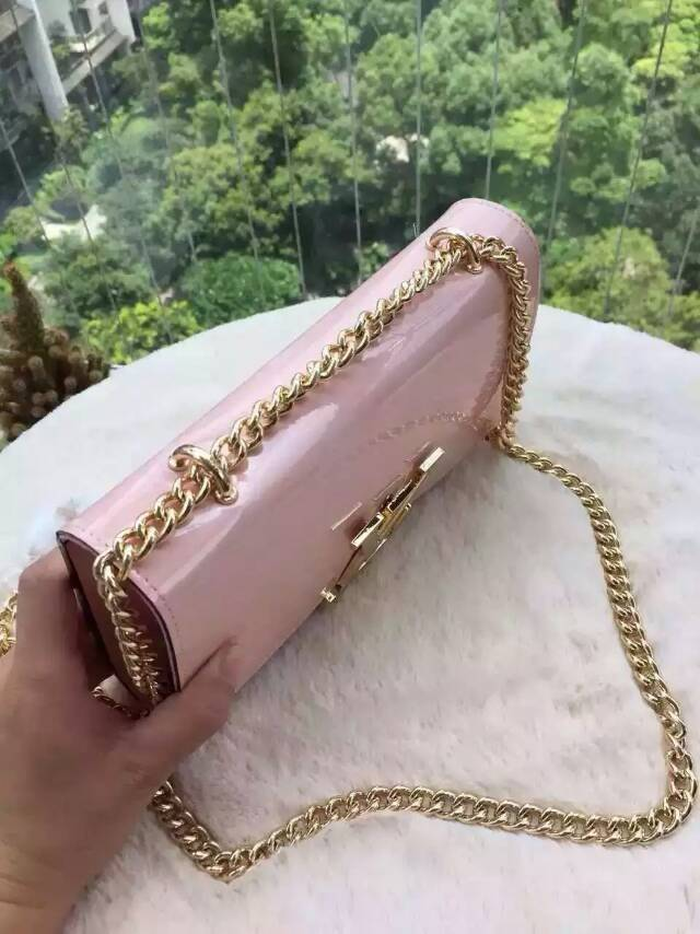 L design EPI leather day clutch chain bag girl pink party clutch(China (Mainland))