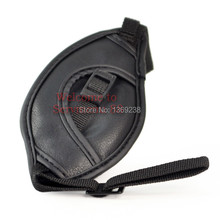 Discount Hot Wholesale Free shipping DSTT0407 Leather Wrist Hand Grip Strap for Canon DSLR Cameras New Photo Studio Accessories