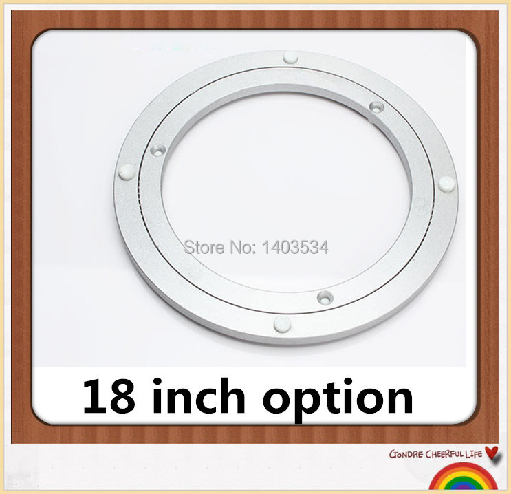 18 inch Aluminum Lazy Susan swivel plate round turntable bearings Hardware Accessories(China (Mainland))