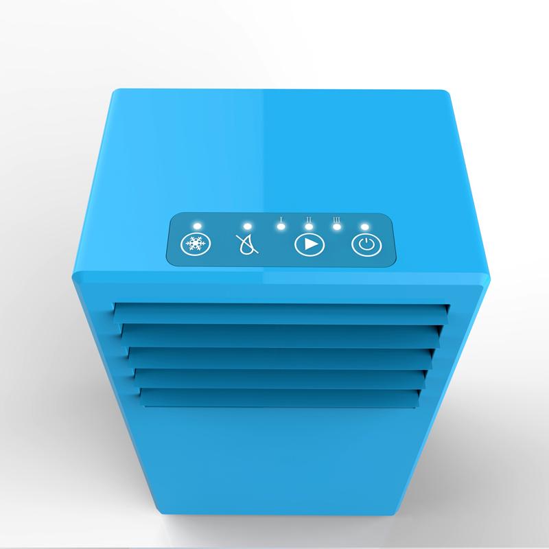 Творческий мини кондиционер электрический bladeless вентилятор рабочего офиса миниый электрический охлаждая вентилятор многофункциональный увлажнитель брызга