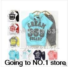 Free shipping! 369 sets of price promotion summer clothes children suit fashion retail single sale(China (Mainland))