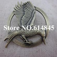 2014 new designer 50pcslot laugh at bird the hunger games brooch vintage wedding brooch bronze brass free shipping gift