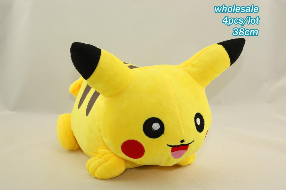 4pcs/lot 38cm Special Offer Pikachu Plush Toys High Quality Very Cute Pokemon Plush Toys For Childrens Gift<br><br>Aliexpress