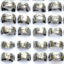 Buy 12Pcs/lot Mix Styles Wholesale Lot Men Stainless Steel Rings Silver Hollow Stainless Steel Wedding Rings Women Engagement Rings for $4.34 in AliExpress store