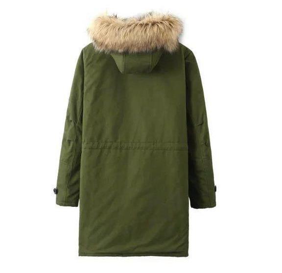 Скидки на Новый 2016 Зимняя Куртка женщин Парки Army Green Большой Меховой Воротник Капюшоном Пальто Женщина зима теплая И Пиджаки s104