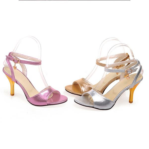 2015 summer new womens fashion solid high heels metal hollow open-toed sandals heels casual about banquet heels shoes D305<br><br>Aliexpress