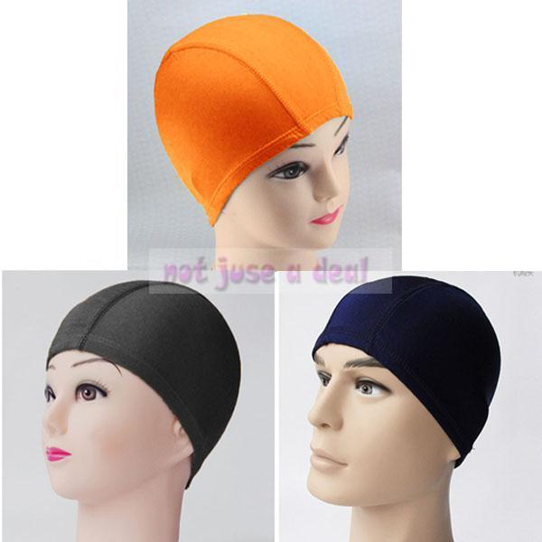 Fashion Summer Unisex Women Men Elastic Pure Color Swim Pool Swimming Hat Cap(China (Mainland))