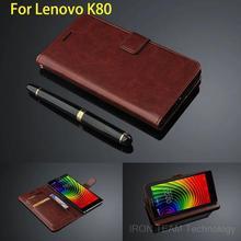 Quality Fundas For lenovo K80m Flip Cover Phone Case for Lenovo Vibe K80 Wallet Leather Case ultra thin Card Holder Bag
