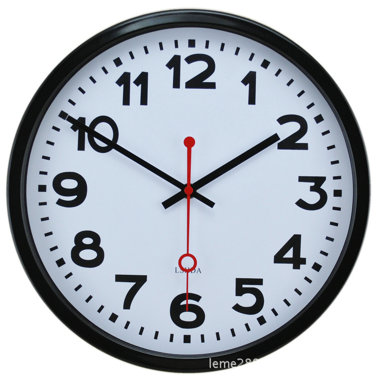 Mute Wall Clock Supe Aluminum Frame Antique Swiss Style Subway Station - Fclbuy Clocks store