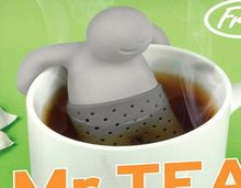 Teapot cute Mr Tea Infuser/Tea Strainer/Coffee & Tea Sets/silicone mr tea 1PCS New style