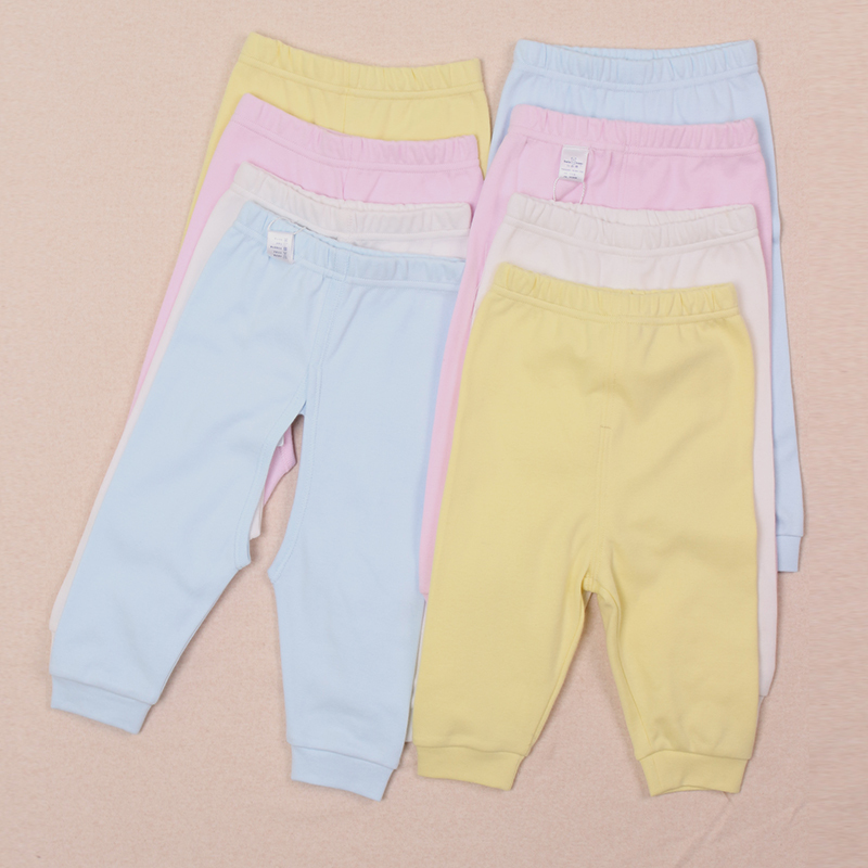 Newborn open-crotch pants, infant cotton long pants, solid color baby leisure clothing boy and girl pants free shipping(China (Mainland))