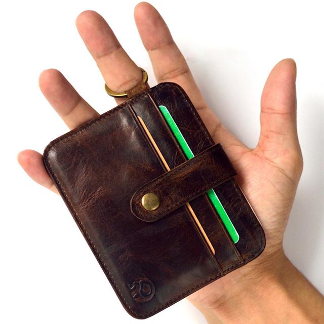 Мини кошельки засов небольшой кошелек 100% натуральная кожа бумажник мужчины кошельки ...
