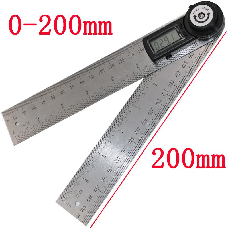 Гаджет  2 IN 1 digital angle ruler protractor 360 degree 200mm electronic digital protractor angle meter angle finder None Офисные и Школьные принадлежности