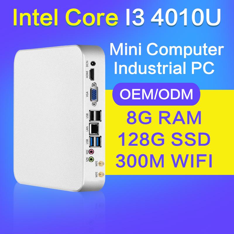 XCY Mini PC for Game I3 4010U 4G RAM 512G SSD WIFI 6*USB Thin Client Mini Fanless PC Support Linux OS Ubuntu mini computer(China (Mainland))