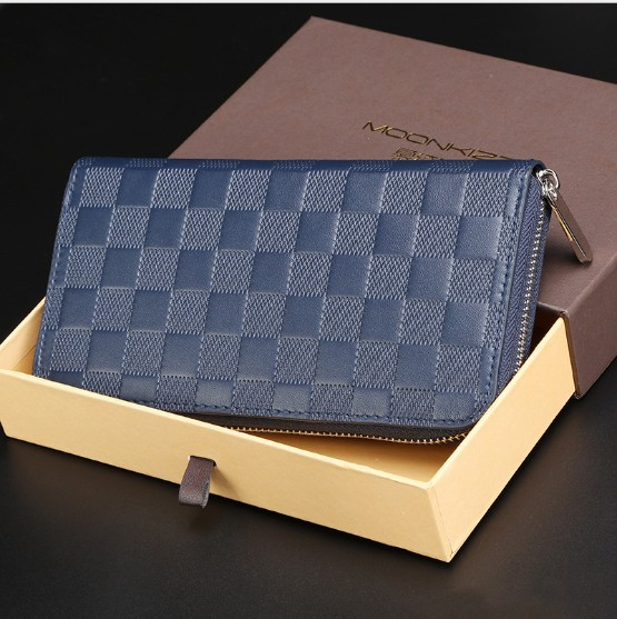 classic wallet man solid wallet fshion man wallet 2015 genuine leather man brand designer wallet(China (Mainland))