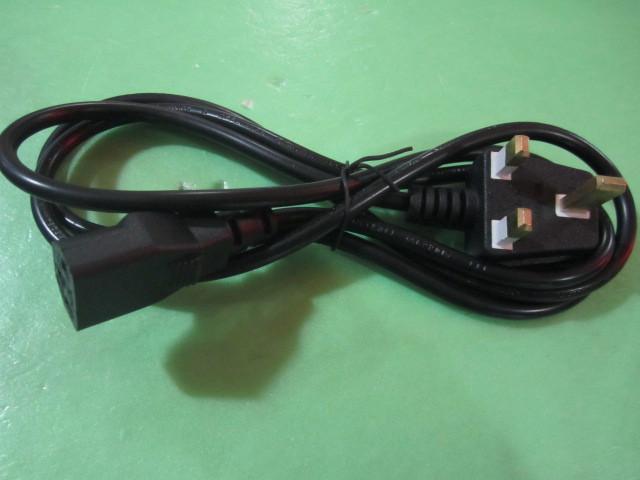 3C all- copper British regulatory power cord / plug wire / suffix 0.75 square 1.5 meters(China (Mainland))