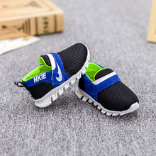 2016 spring new breathable Boys and girls high quality mesh cloth sports shoes baby soft bottom Super soft and comfortable(China (Mainland))