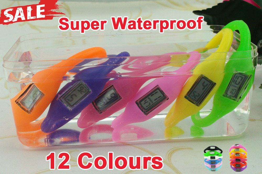 2015 fashion NEW Arrival Anion Waterproof Sports Wrist Digital LED Watch wholesale Bracelet Watch men women B013(China (Mainland))
