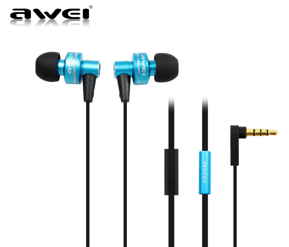 Free shipping Awei ES900i In Ear Earphone for iphone and mobile phone