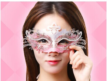 Halloween mask female masquerade princess lace child cosplay - The queen! store