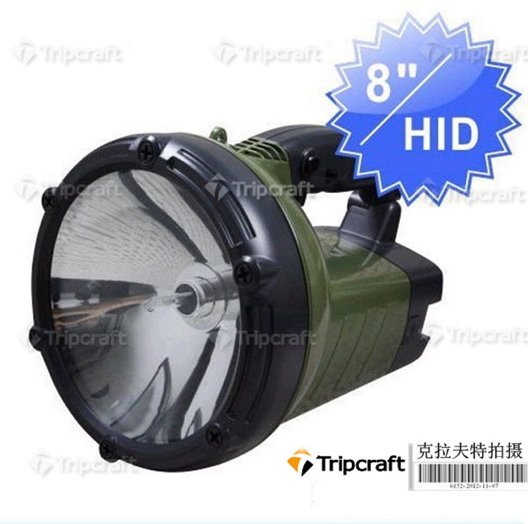 WHOLESALE! 2PCS/LOT! 12V 55W Rechargable AUTO HID LIGHT HID Portable lamp,color: Army green(China (Mainland))